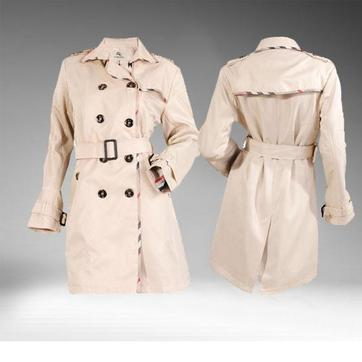 burberry trench coat outlet ozz5  Bueberry V-Neck Belted Beige Grid Stripes Trench Coats Burberry outlet  Features: